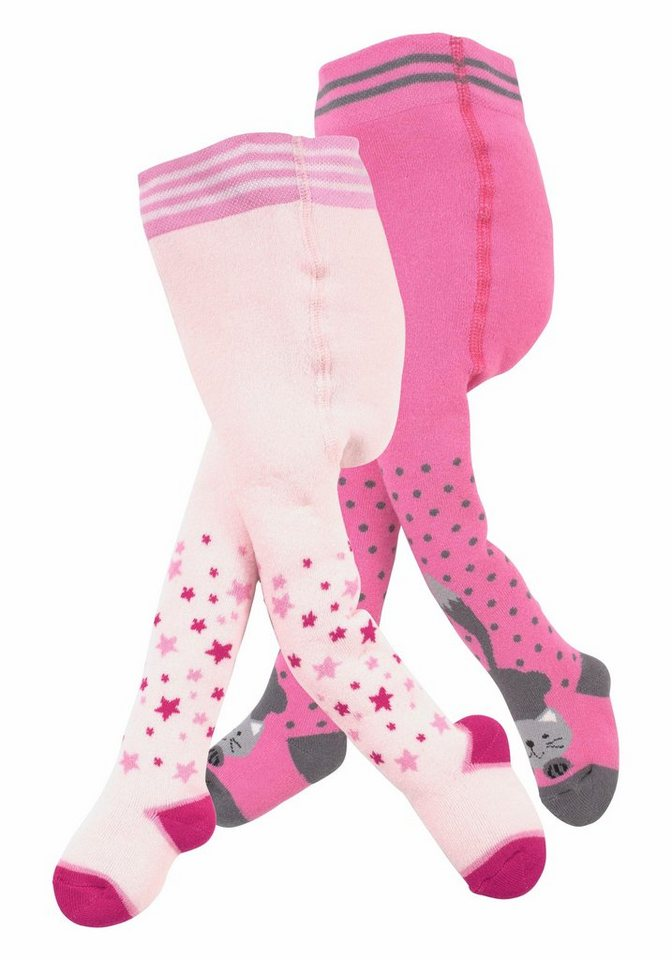 Jacob's Babymoden Thermostrumpfhose in pink+rosa