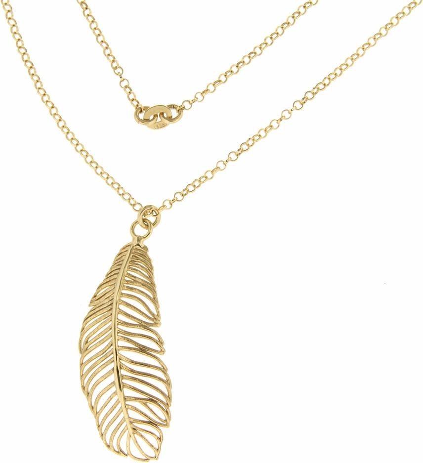 Firetti Silberkette »Feder« in Silber 925-goldfarben