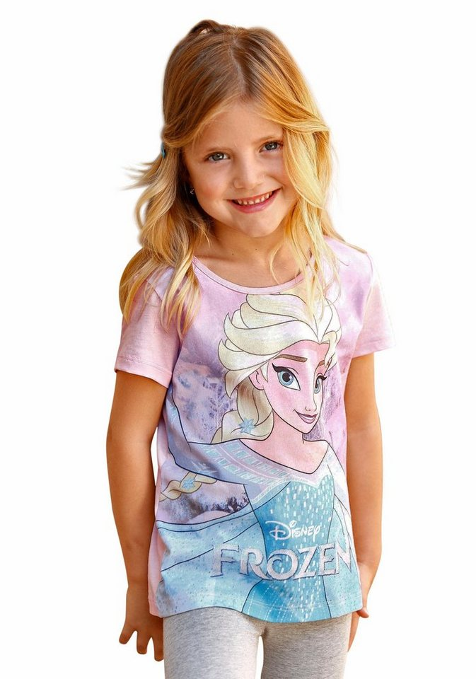 Disney Frozen T-Shirt mit Elsa-Motiv aus Disney's Frozen in rosa