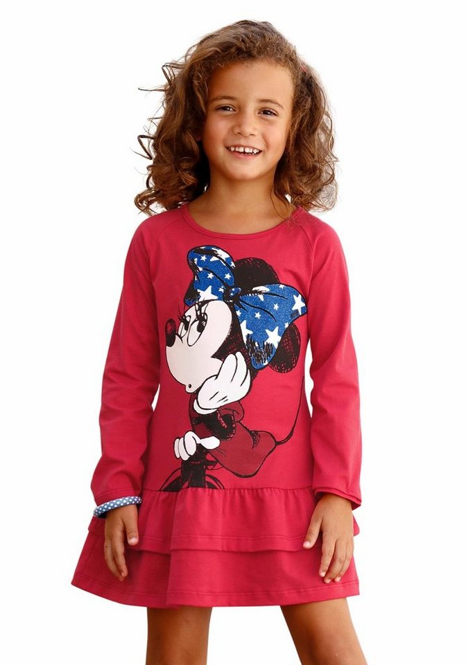 Disney Jerseykleid mit Minnie Mouse Druck in rot