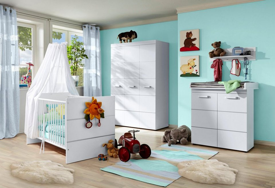 komplett babyzimmer classic babybett wickelkommode kleiderschrank 3 tlg online kaufen. Black Bedroom Furniture Sets. Home Design Ideas