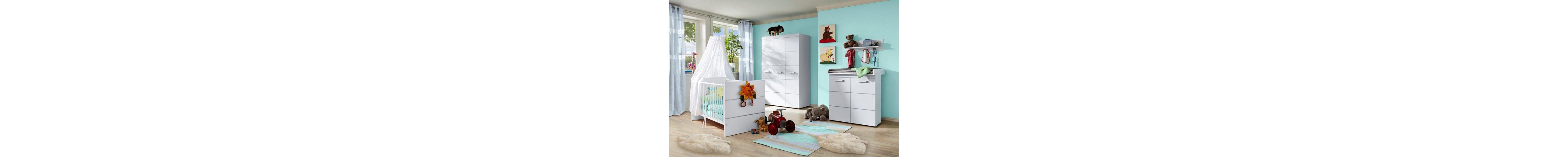 Komplett Babyzimmer »Classic« Babybett + Wickelkommode + Kleiderschrank, (3-tlg.)