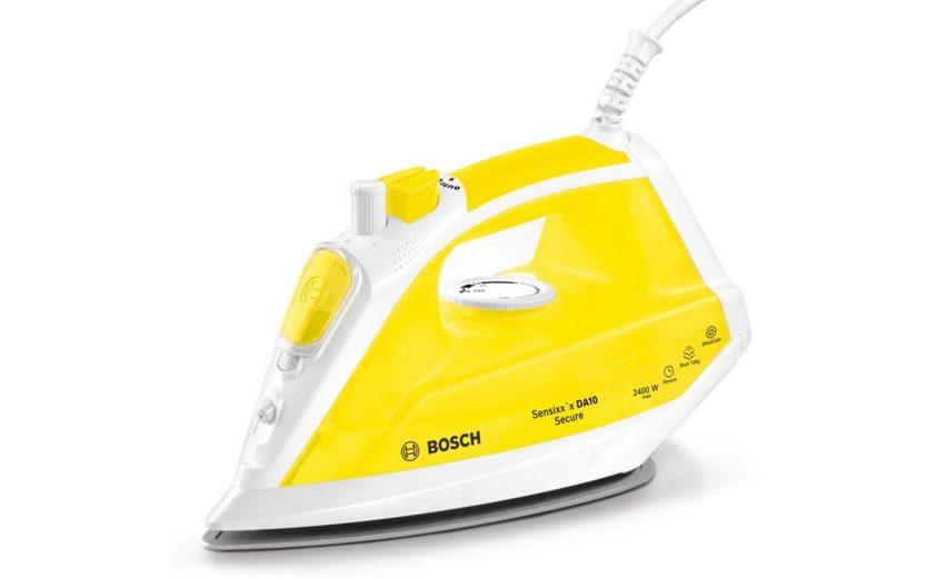 Bosch Dampfbügeleisen Sensixx'x DA10 Secure TDA1024140, PalladiumGlissée Bügelsohle, 2400 Watt