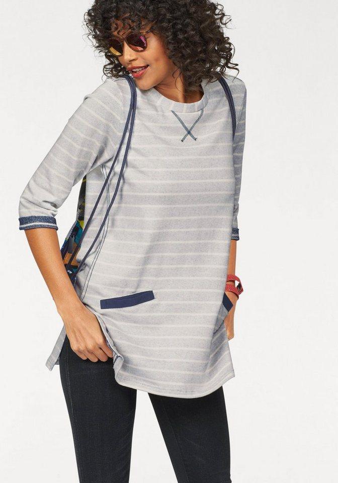 KangaROOS Longsweatshirt in Streifen-Optik in offwhite-marine-gestreift