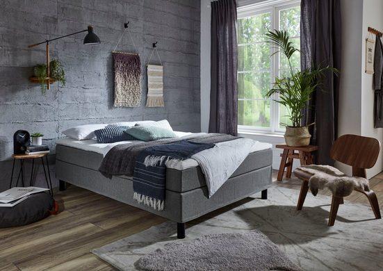 ATLANTIC home collection Boxbett, mit Topper, frei im Raum stellbar