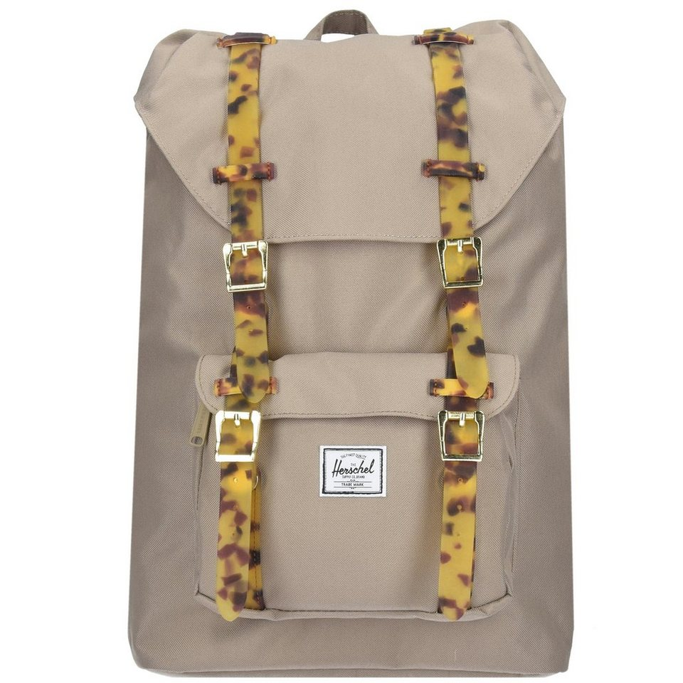 Herschel Little America Mid Volume Backpack Rucksack 38 cm Laptopfach in brindle-tortoise she