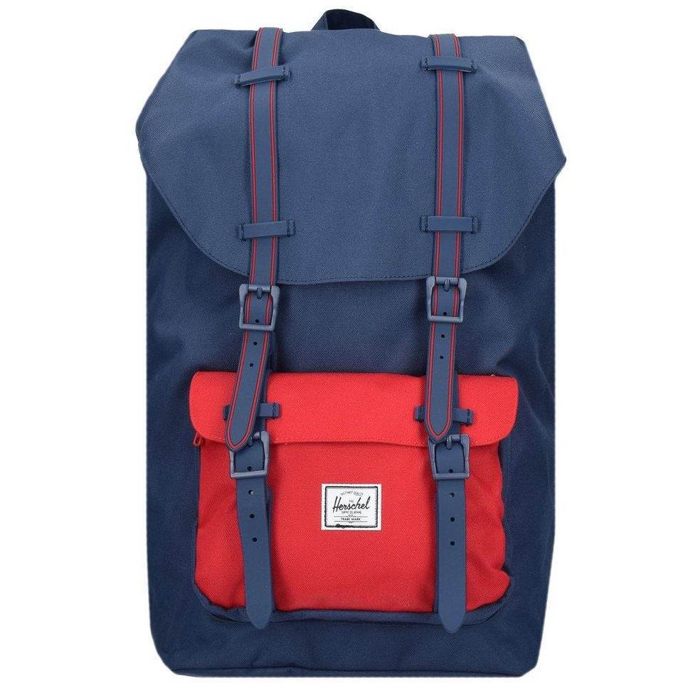 Herschel Little America 16 Backpack Rucksack 52 cm Laptopfach in navy-navy rubber-red