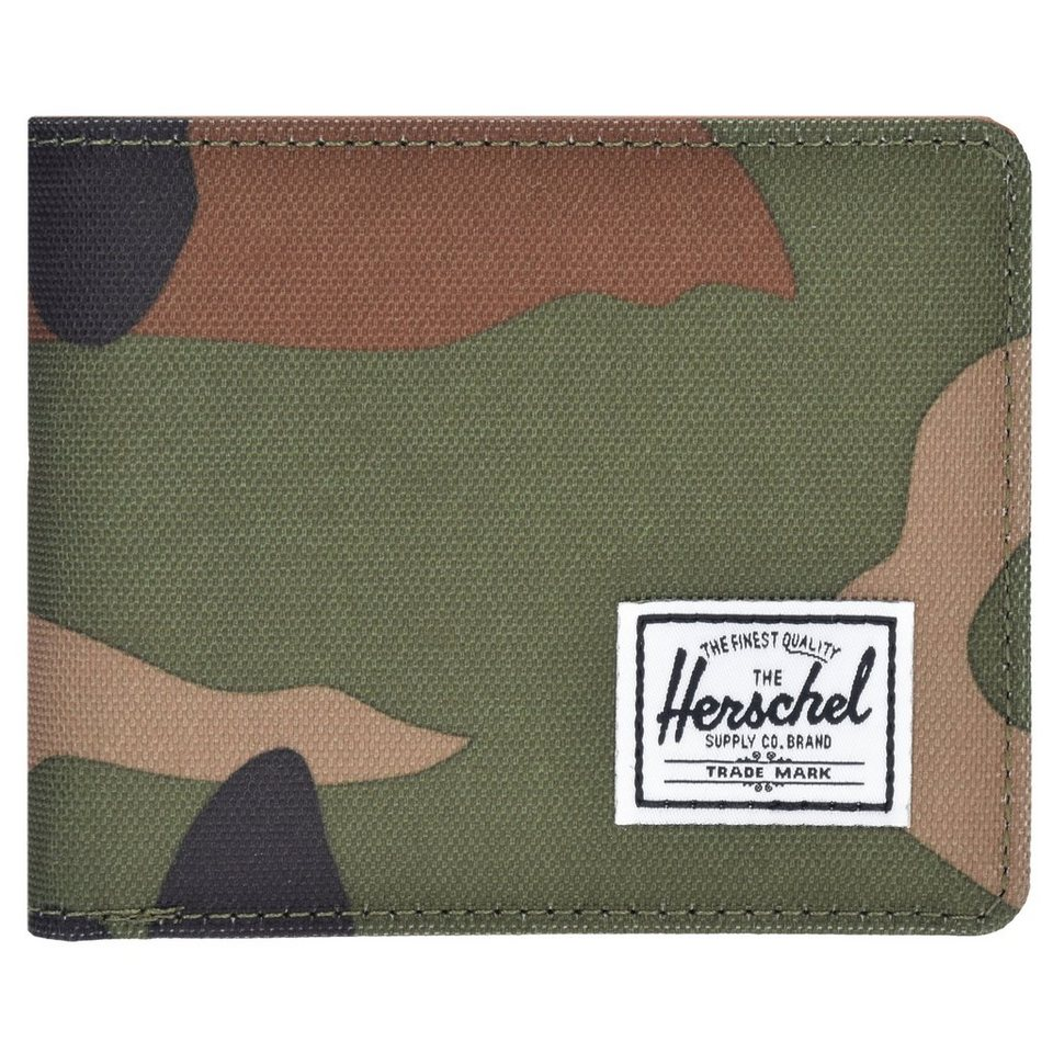 Herschel Wallets Hank+Coin Geldbörse 10 cm in woodland camo-tan sy