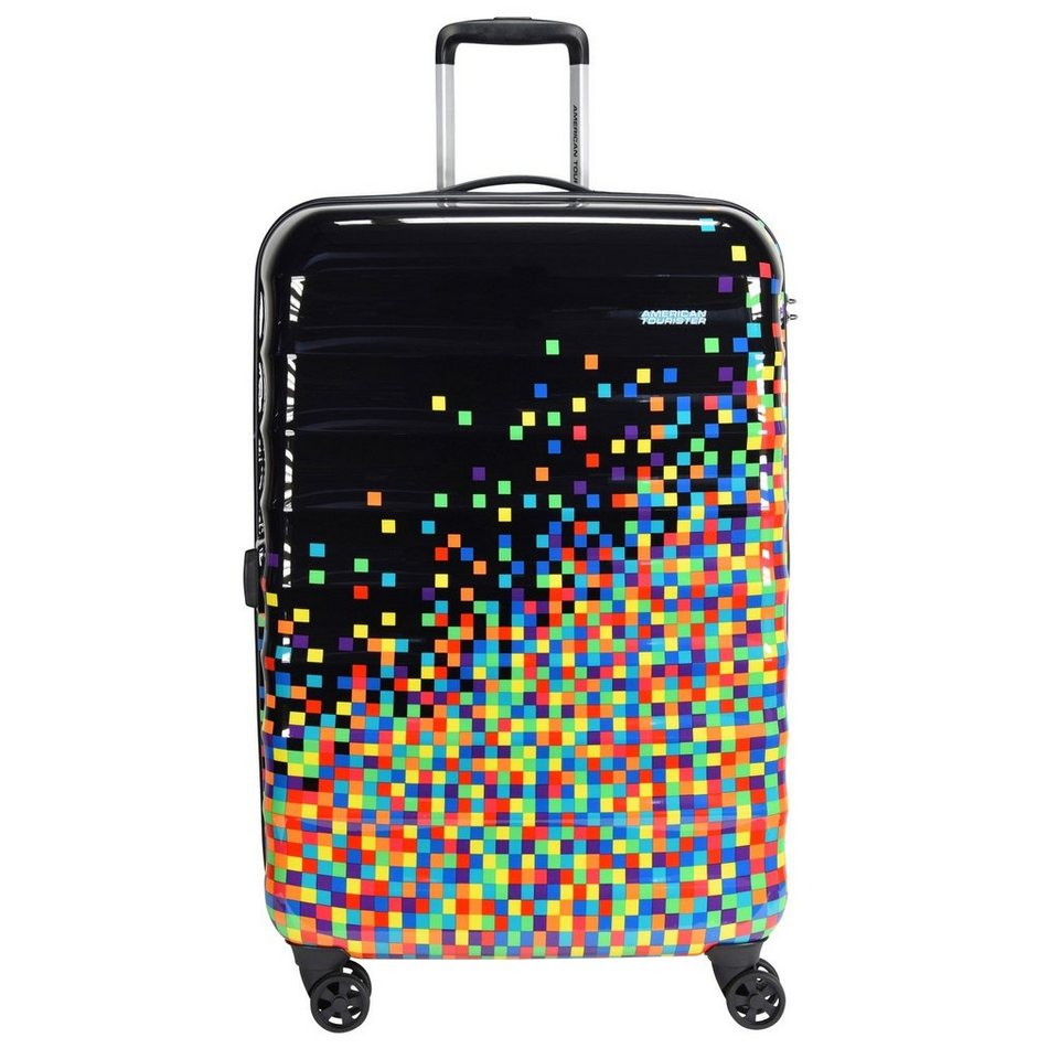 American Tourister Palm Valley Spinner 4-Rollen Trolley 77 cm in pixel black