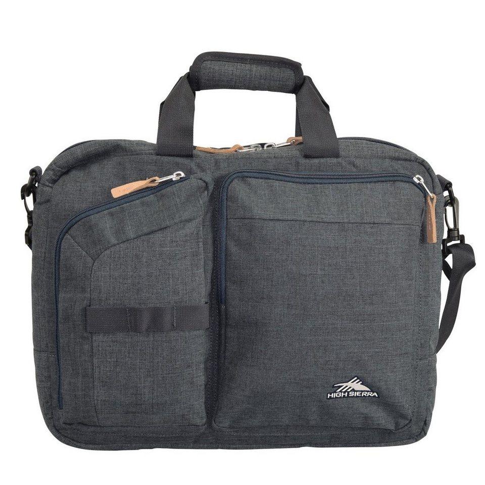 High Sierra Urban Packs Maputo Businesstasche mit Rucksackfunktion 42 cm Lap in dark grey charcoal