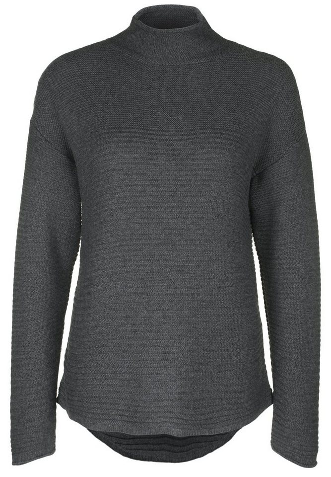 Blaumax Strickpullover »INA« in anthracite mele
