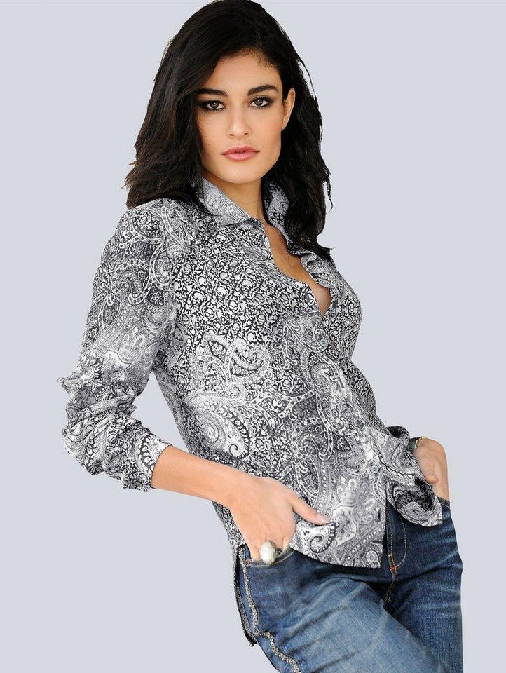 Alba Moda Hemdbluse in schwarz/weiß