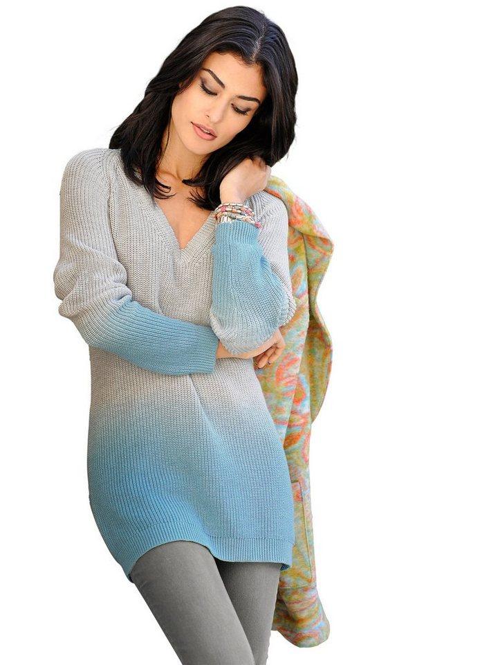 Alba Moda Pullover in grau/mint