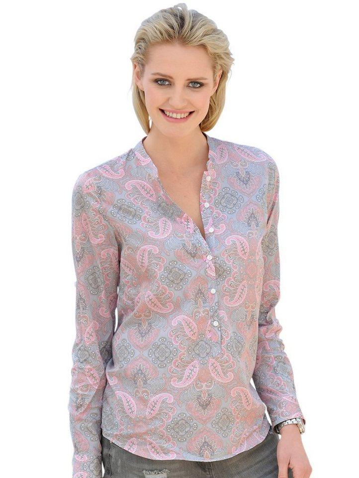 Alba Moda Bluse in rosé/grau