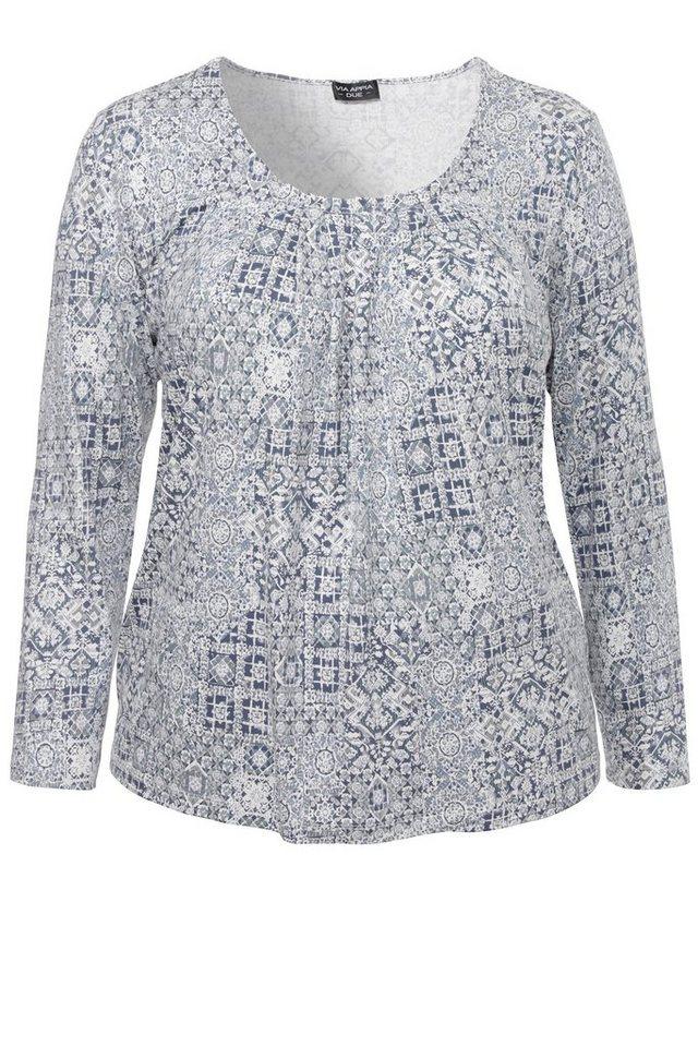 VIA APPIA DUE Feminines Print-Shirt in INDIGO MULTICOLOR