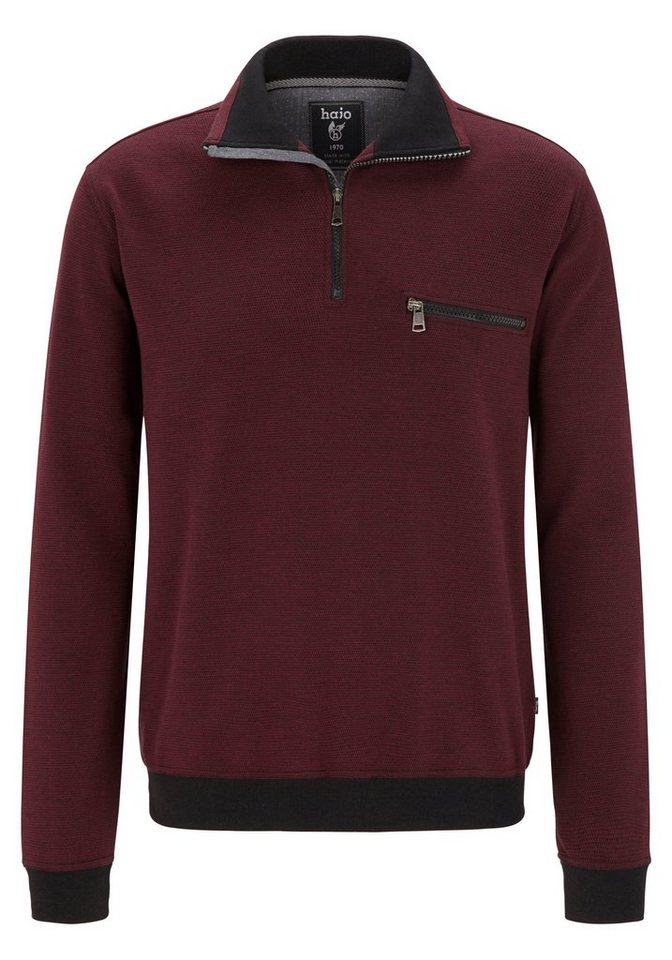 "Hajo Sweatshirt ""Stay Fresh"" in bordeaux"
