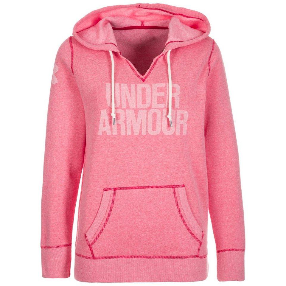 Under Armour® AllSeasonGear Favorite Trainingskapuzenpullover Damen in pink / weiß