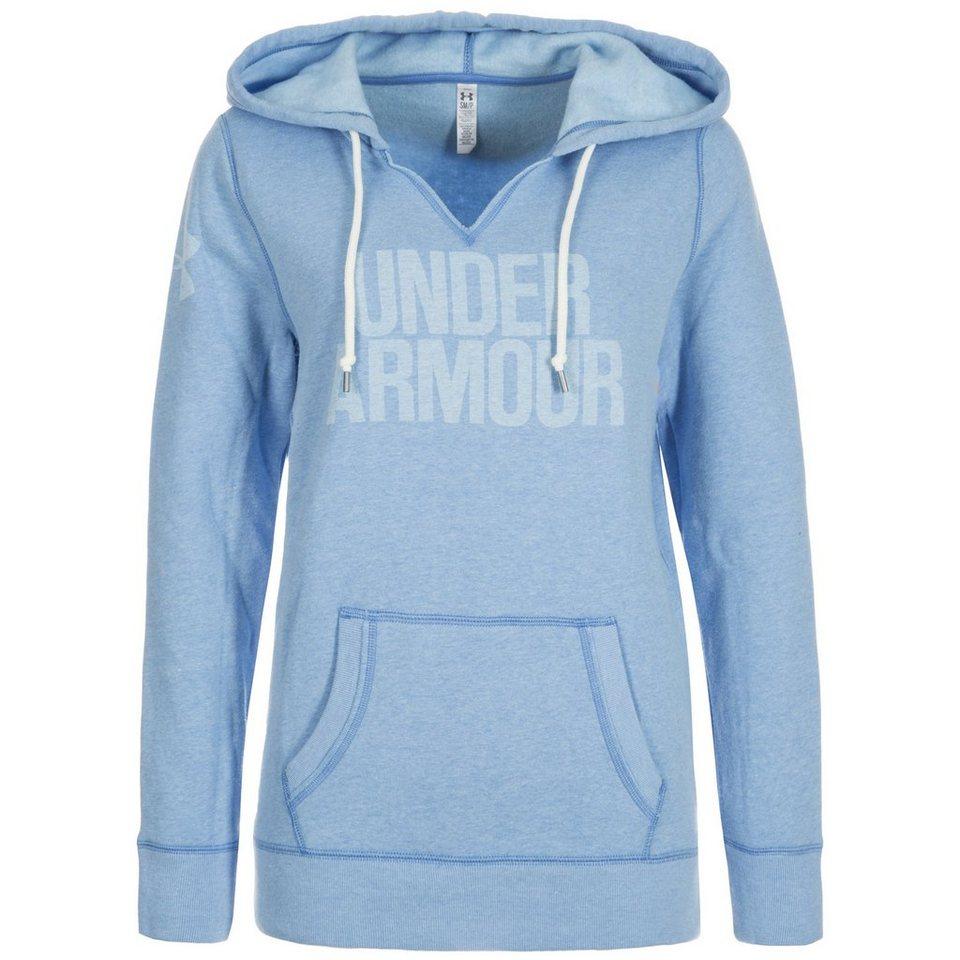 Under Armour® AllSeasonGear Favorite Trainingskapuzenpullover Damen in hellblau / weiß