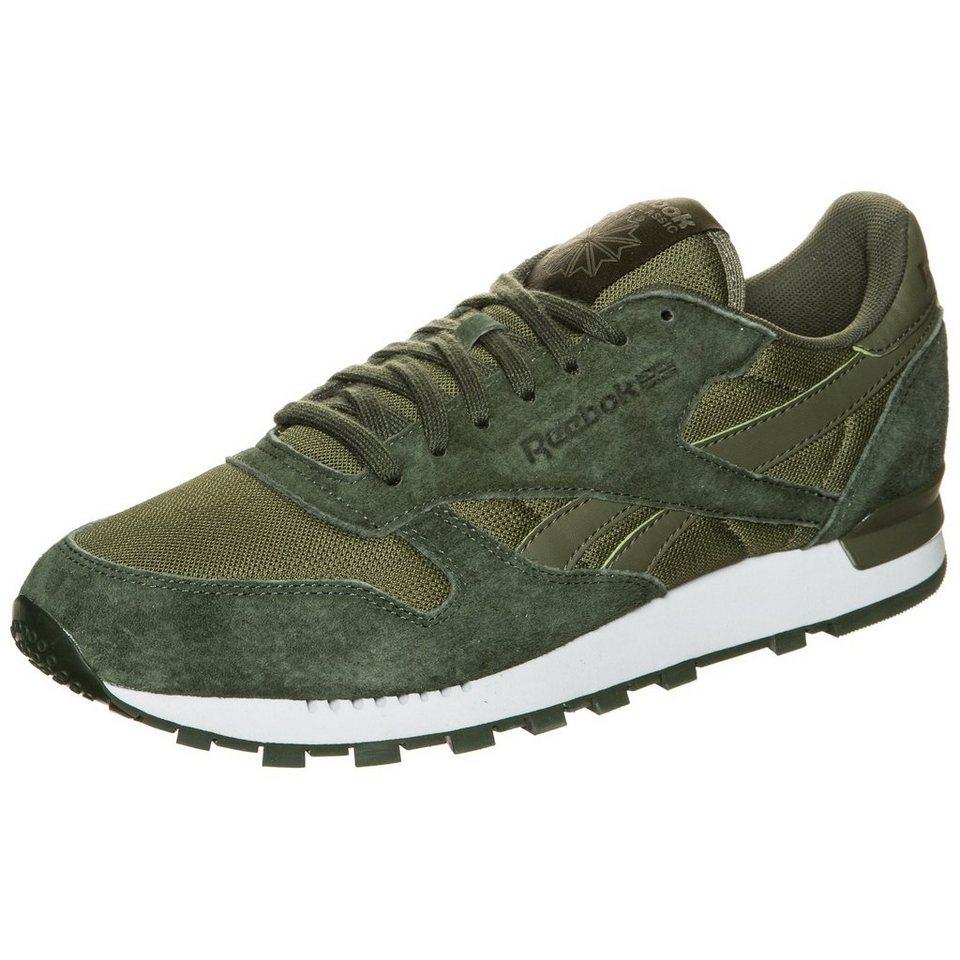 Reebok Classic Classic Leather Clip ELE Sneaker Herren in dunkelgrün / weiß