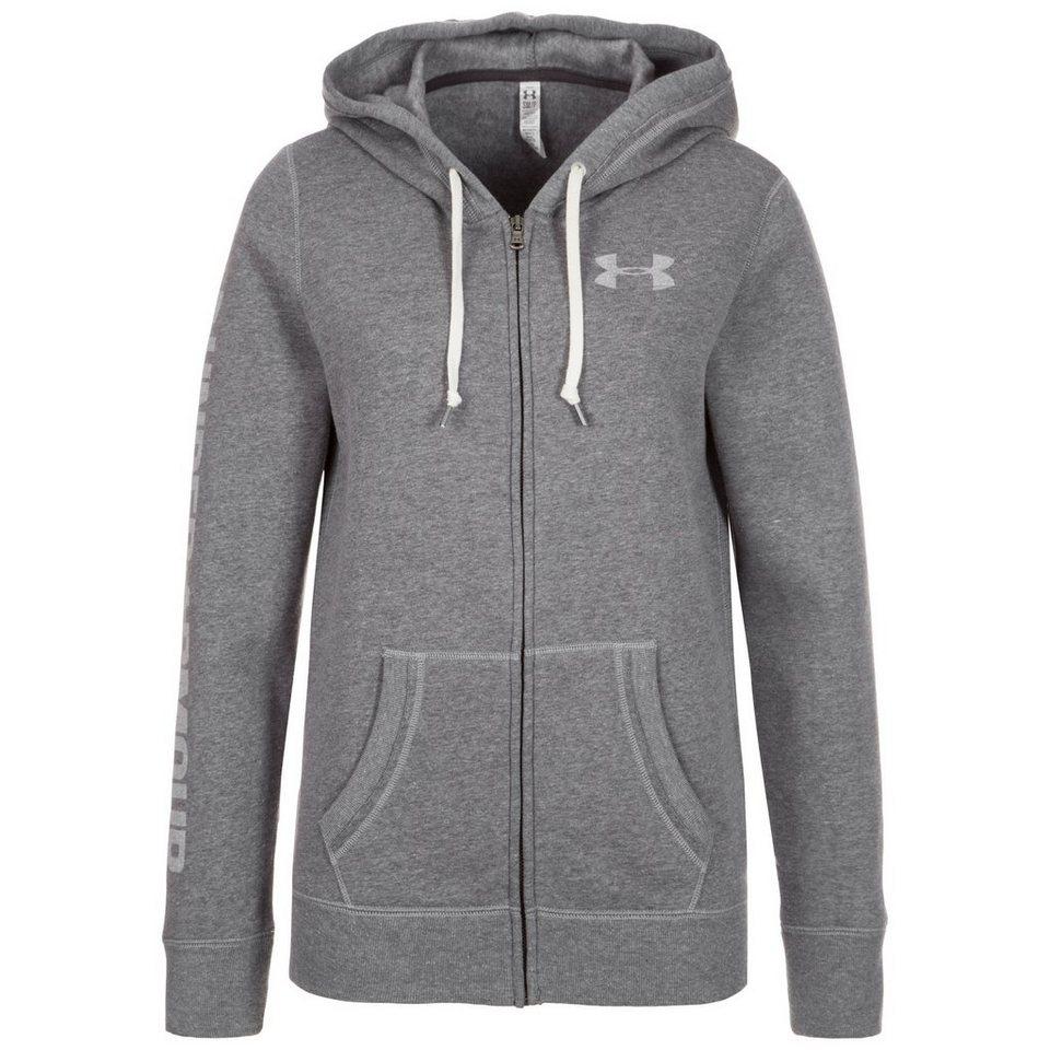Under Armour® AllSeasonGear Favorite Trainingsjacke Damen in grau / weiß