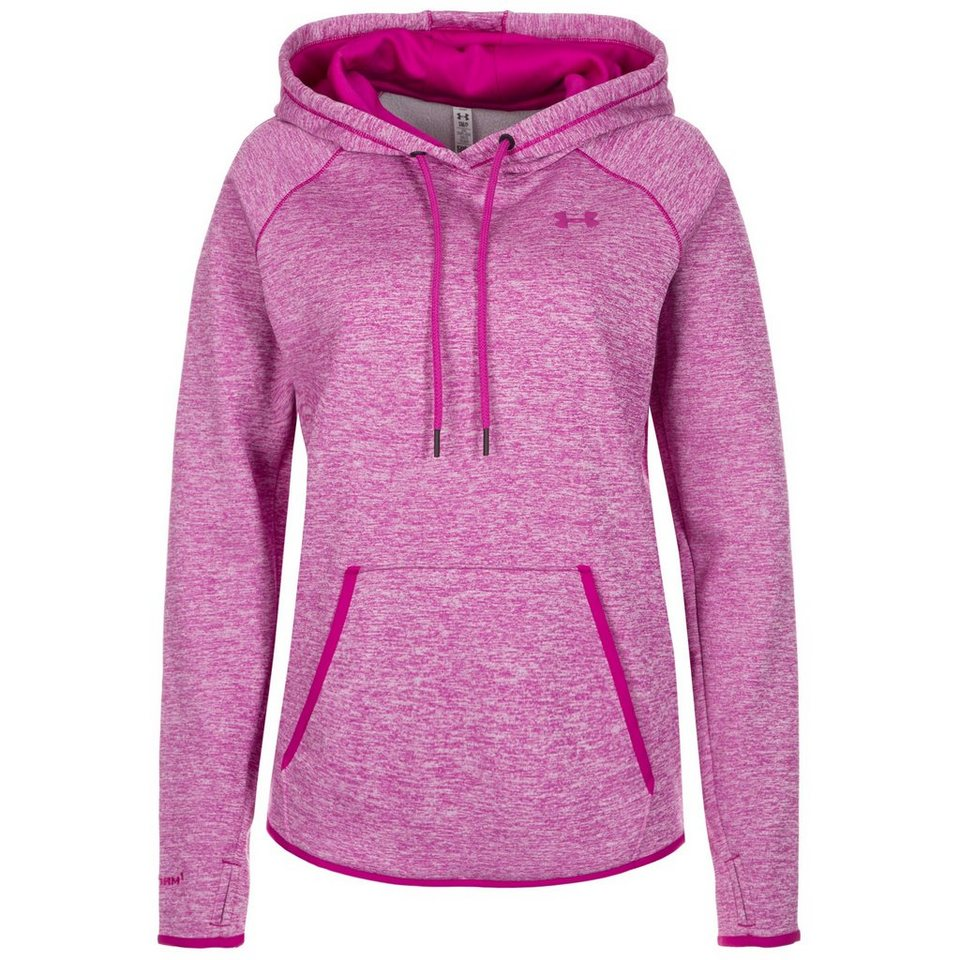 Under Armour® ColdGear Storm AF Icon Trainingskapuzenpullover Damen in fuchsia