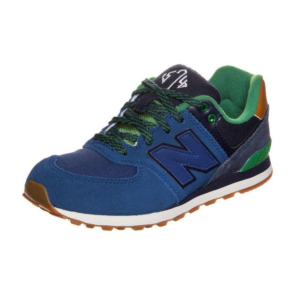 NEW BALANCE KL574-NEG-M Sneaker Kinder in dunkelblau / grün