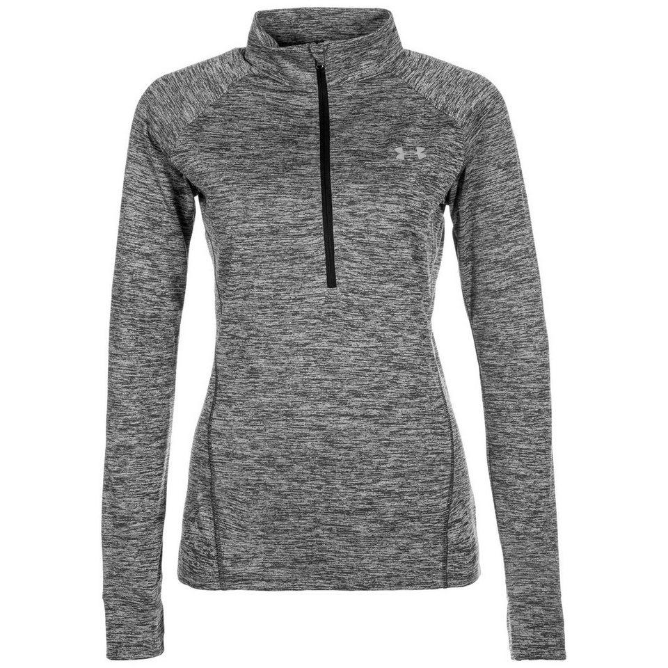 Under Armour® HeatGear Tech Twist Trainingslongsleeve Damen in schwarz / grau
