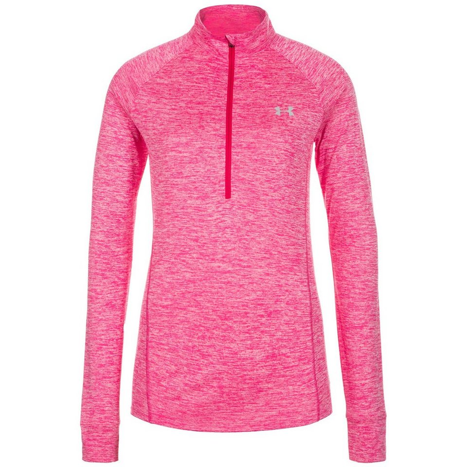 Under Armour® HeatGear Tech Twist Trainingslongsleeve Damen in pink