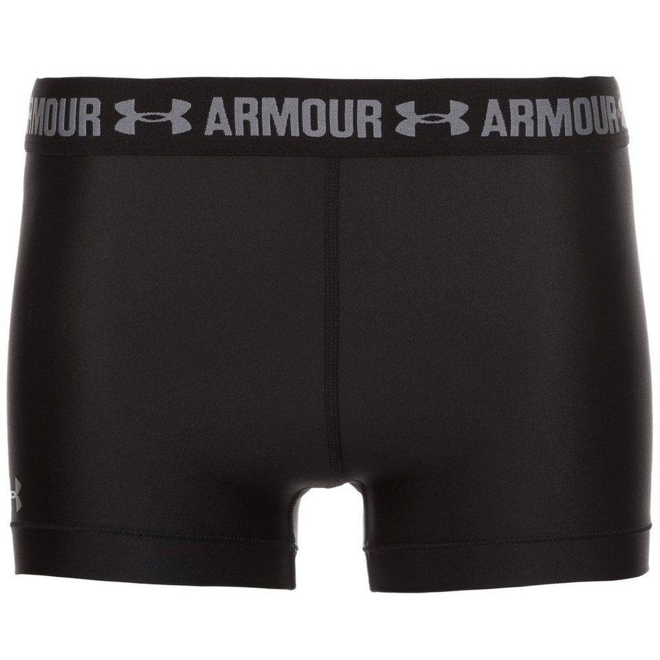 Under Armour HeatGear Armour Shorty Trainingstight Damen in schwarz / grau