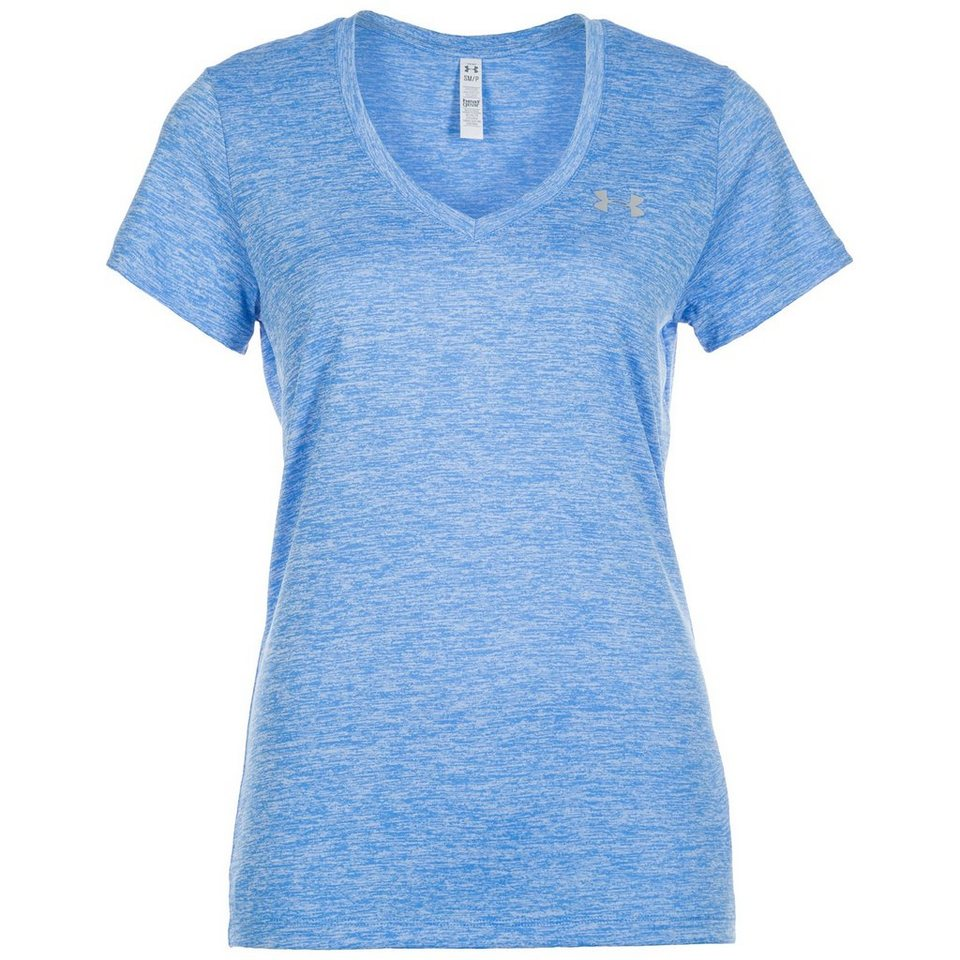 Under Armour® HeatGear Twisted Tech Trainingsshirt Damen in hellblau