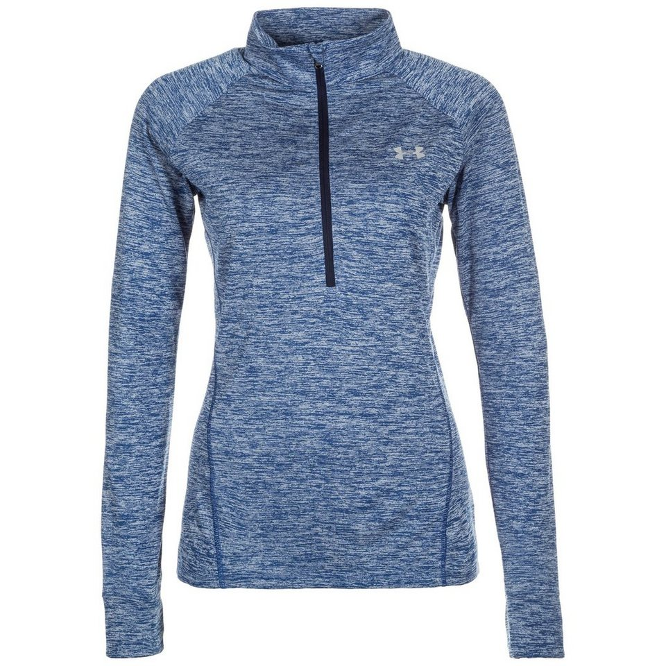 Under Armour® HeatGear Tech Twist Trainingslongsleeve Damen in blau / grau