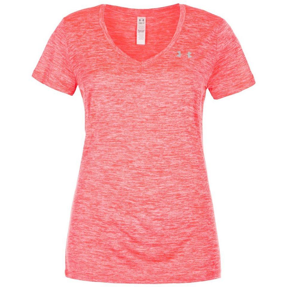 Under Armour® HeatGear Twisted Tech Trainingsshirt Damen in neonrot