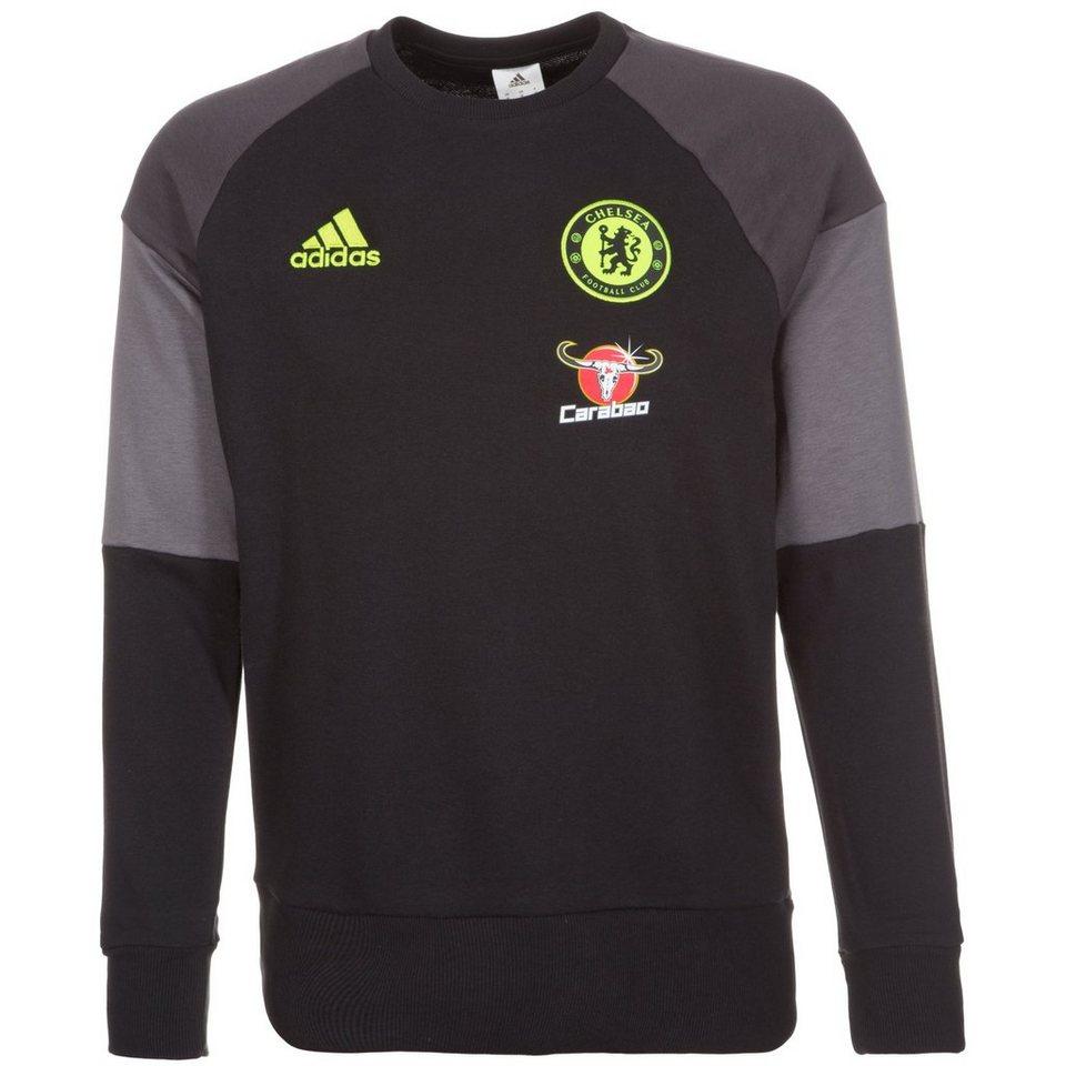 adidas Performance FC Chelsea Trainingssweat Herren in schwarz / grau
