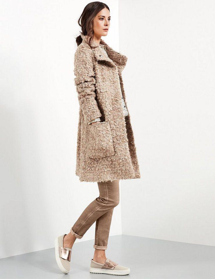 Taifun Outdoorjacke Wolle »Kurzmantel mit grober Bouclé-Struktur« in Croissant-Melange