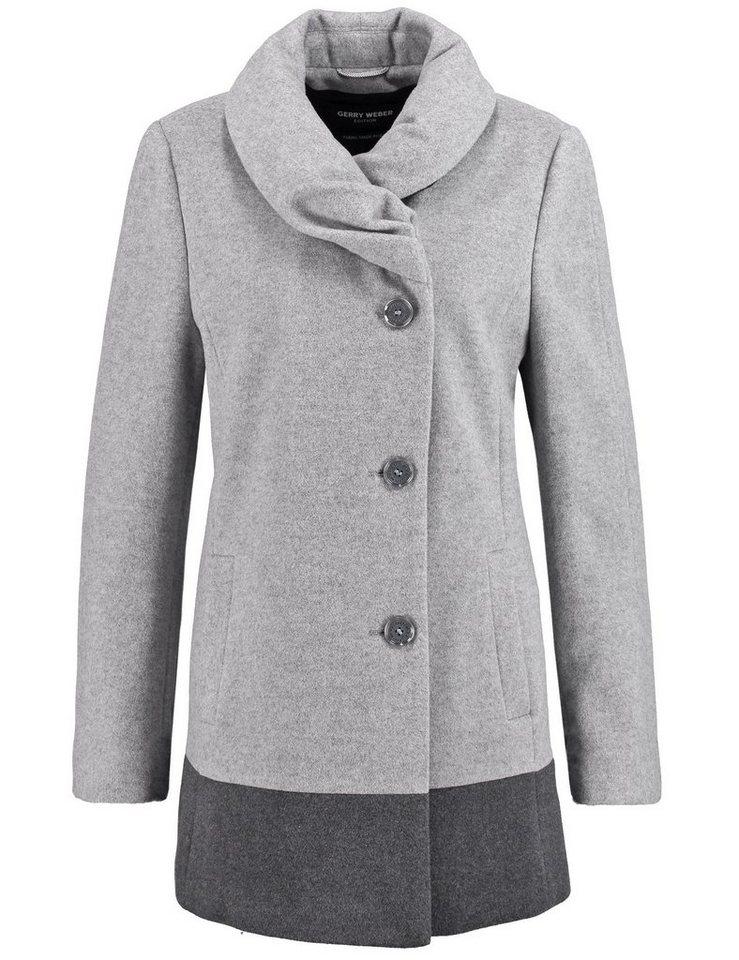 Gerry Weber Outdoorjacke Wolle »Jacke mit ausgestellter Form« in Kiesel