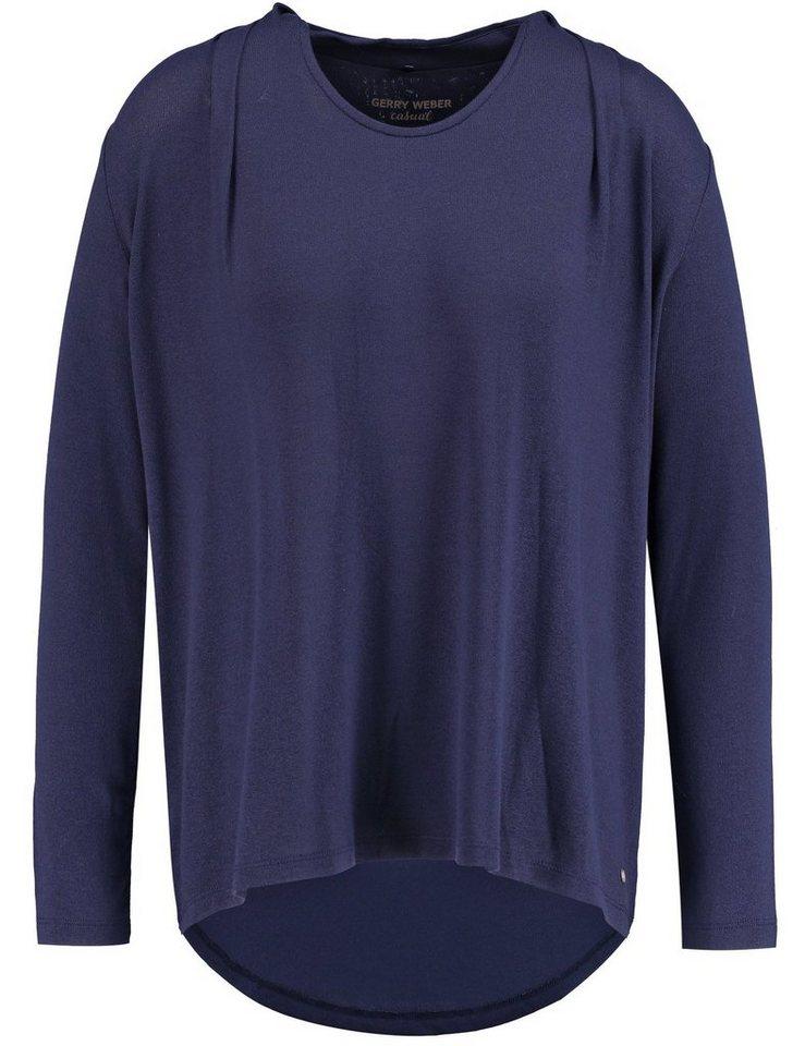 Gerry Weber T-Shirt 1/1 Arm »Langarmshirt mit voluminöser Weite« in Nachtblau