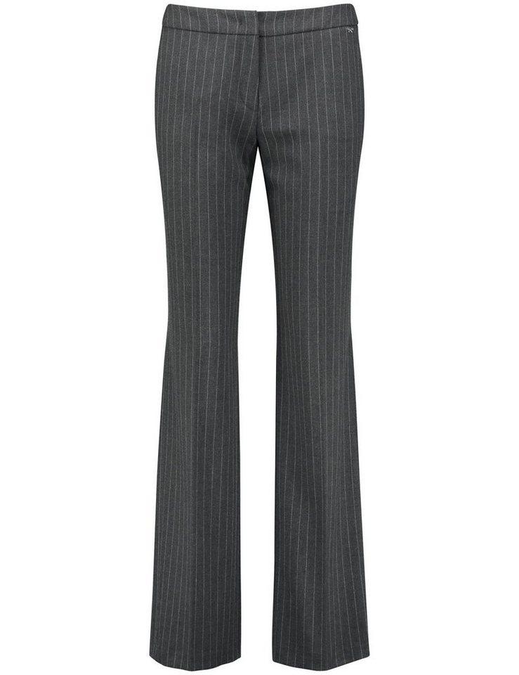Gerry Weber Hose Freizeit lang »Weite Hose mit Nadelstreifen« in Grau Streifen