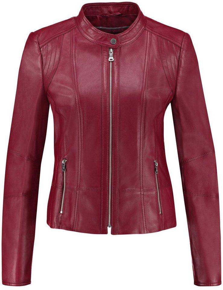 Gerry Weber Blazer / Jacke Leder »Blazer aus hochwertigem Leder« in Marsala