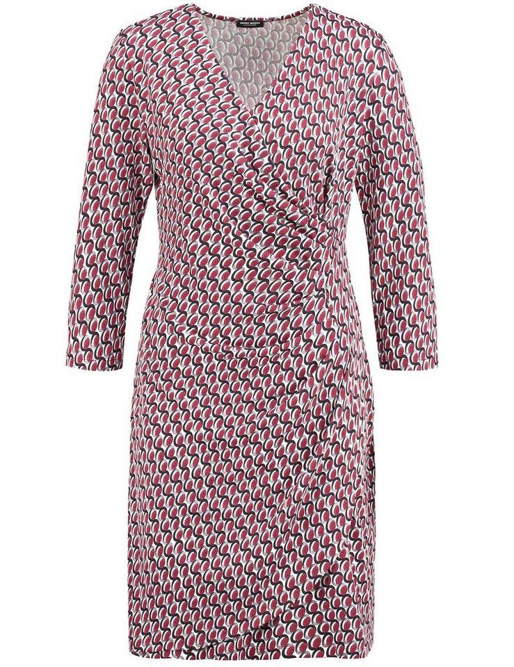 Gerry Weber Kleid Gewirke »Kleid mit modischem Alloverdessin« in Ecru-Weiß-Rot-Orange