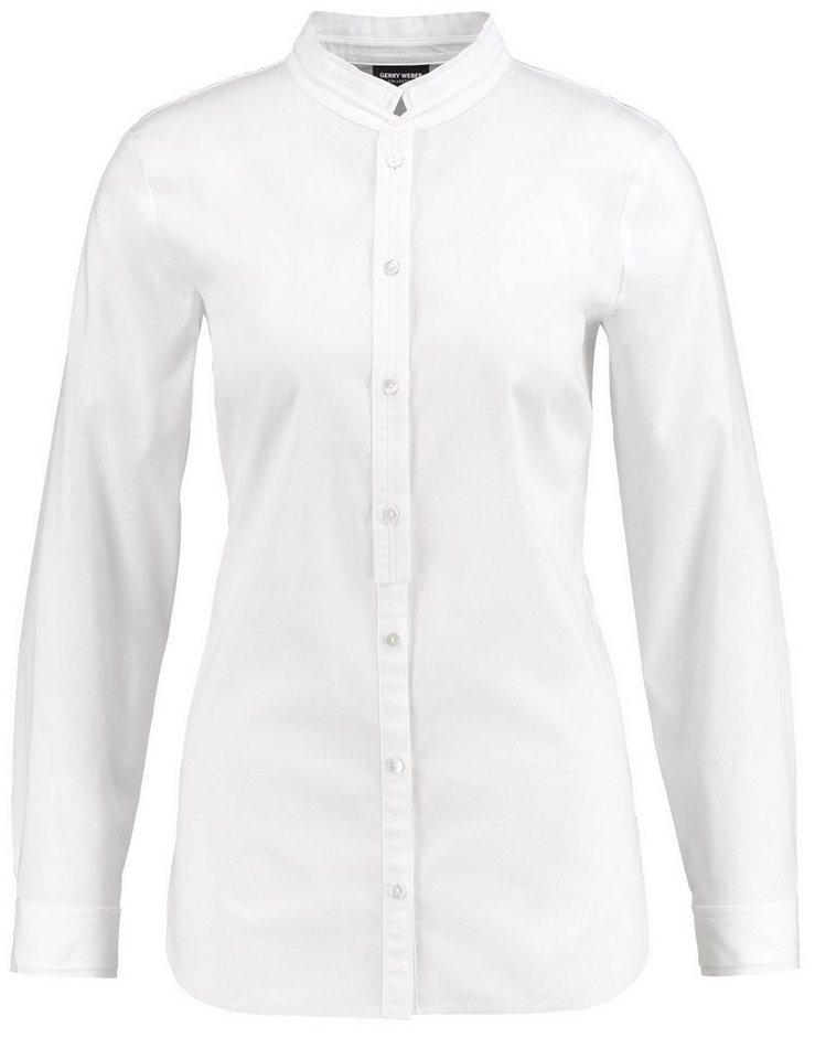 Gerry Weber Bluse Langarm »Langarmbluse mit Stehkragen« in Weiß-Weiß