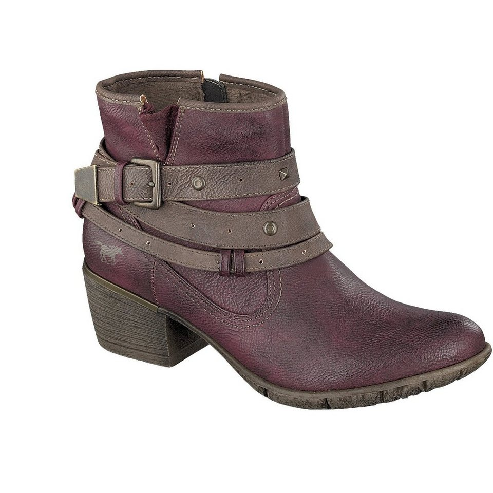 MUSTANG SHOES Stiefelette in bordeaux