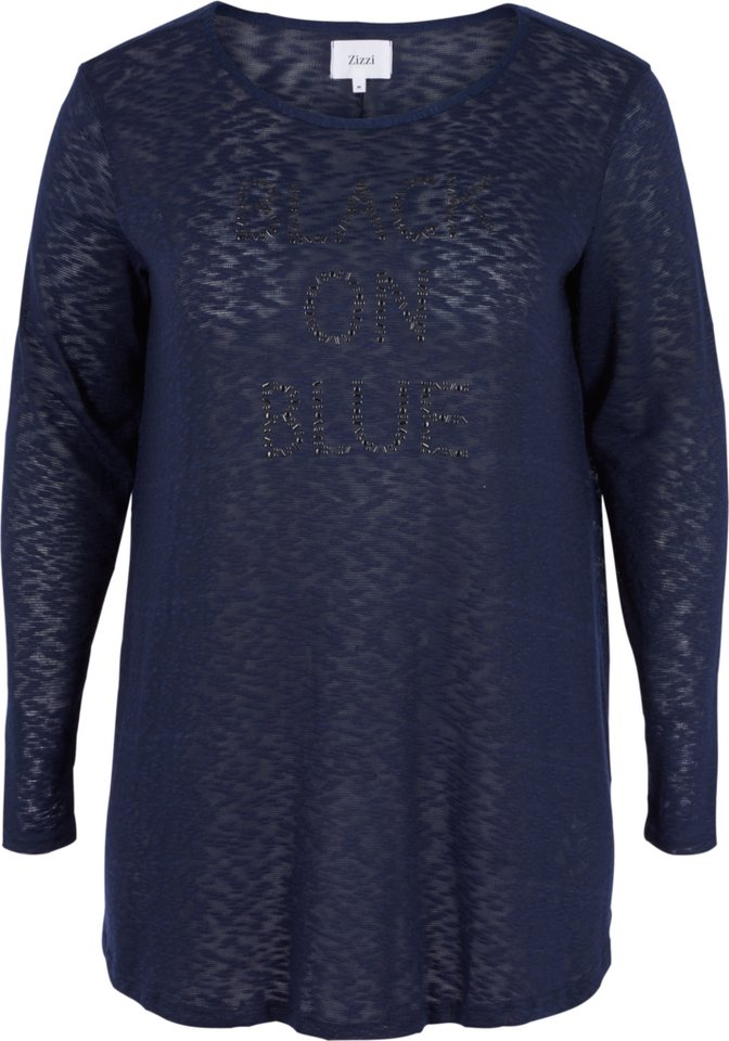 Zizzi Bluse in Night Sky