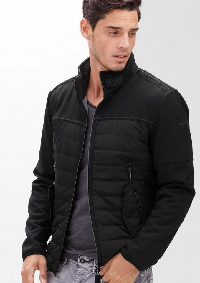s.Oliver RED LABEL Sportive Jacke im Materialmix in black
