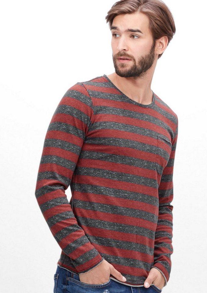 s.Oliver RED LABEL Blockstreifen-Shirt aus Jersey in passion red