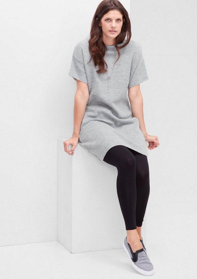 TRIANGLE Strickkleid aus melierter Wolle in light grey