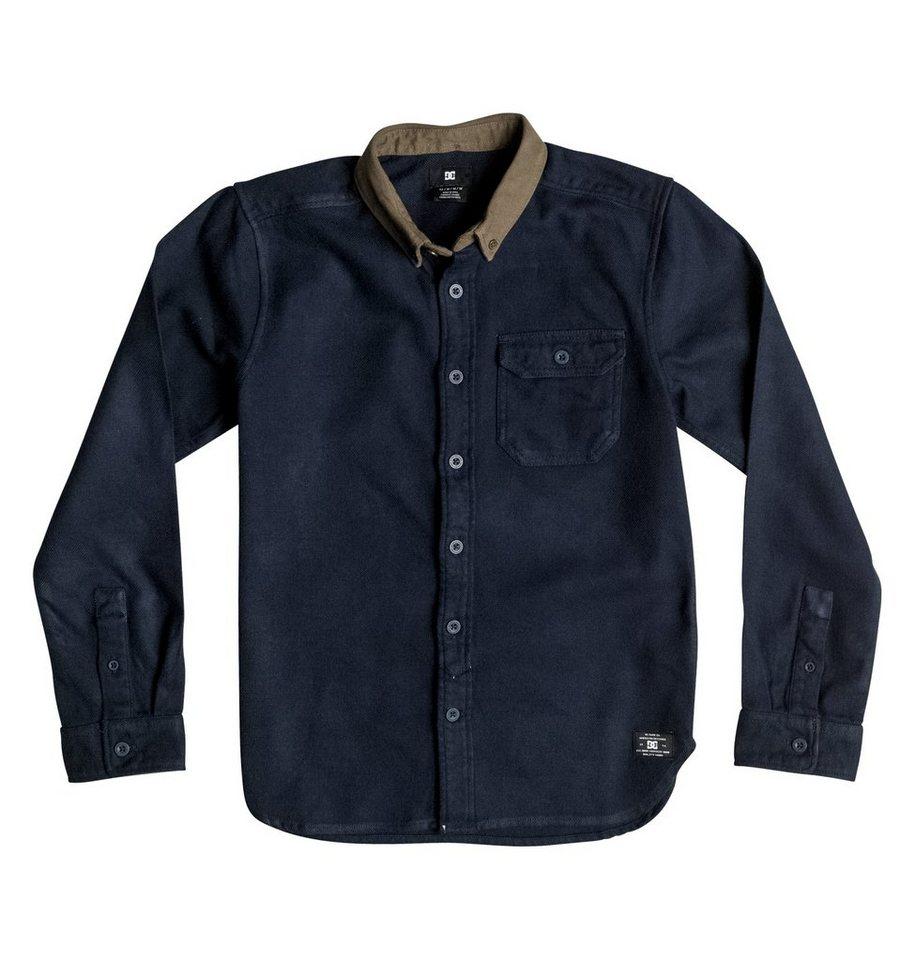 DC Shoes Langarm-Hemd »Wallingstone Flannel« in Black iris