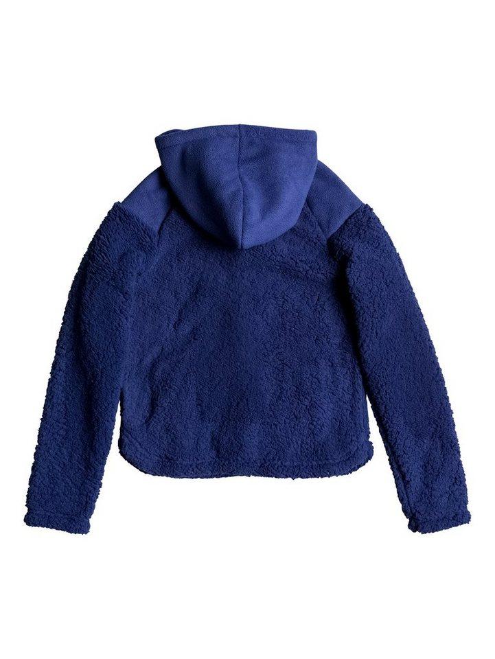 Roxy Plüsch-Fleece-Jacke »Oats To Water« in Blue print