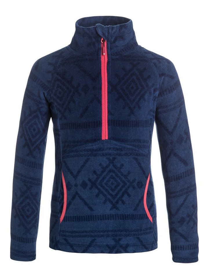 Roxy Half-Zip Fleece-Pullover »Cascade« in Blue print
