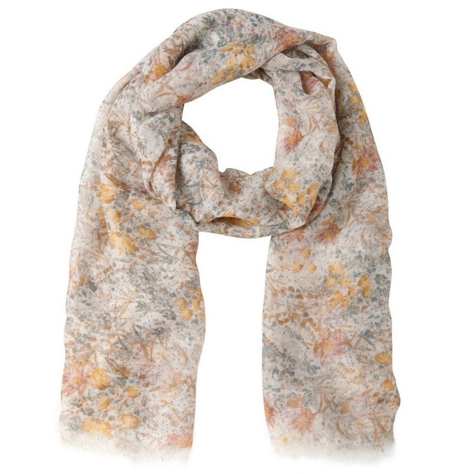 TOM TAILOR Schal »printed scarf« in whisper white