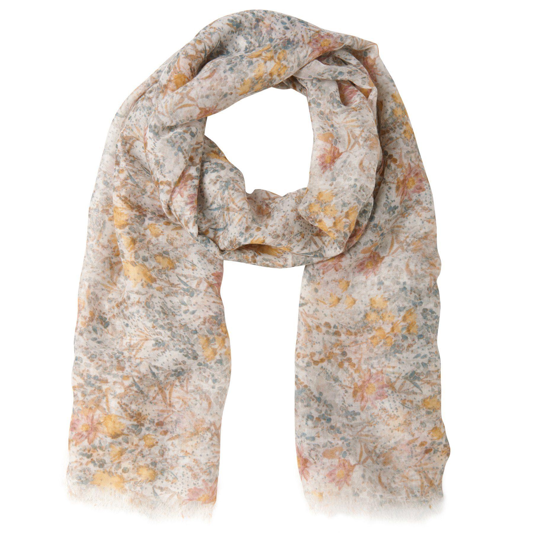 TOM TAILOR Schal »leichter Schal mit floralem Print«